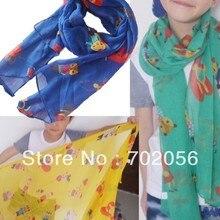 Детский Шарф саронг Бандана Хиджаб обернуть шаль-пончо 160*50 cm Смешанные цвета 18 шт./лот#3357
