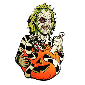 Beetlejuice badge horror sandworm pumpkin pin cool perfect Halloween addition