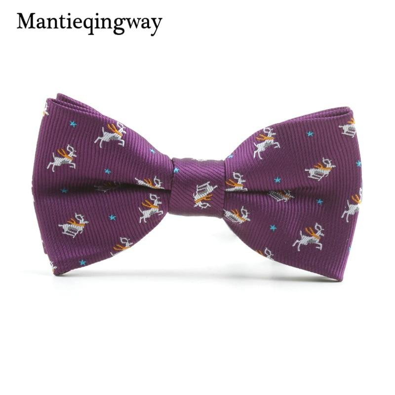 MXR068191  Mantieqingway Cartoon Kids Bow Ties for Child Fits Animals Sample Butterflies Collar Bowtie for Boys Woman Youngsters Cravat Tie HTB1W7kZXMfN8KJjSZFIq6A0UFXa9