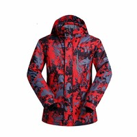 2017 Winter Waterproof Outdoor Colorful Skiing Clothes Suit Men Ski Clothing Jacket Thermal Snowboard Jackets Climbing