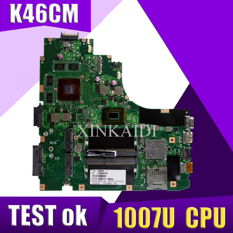 XinKaidi <font><b>K46CM</b></font> motherboard for ASUS Laptop motherboard <font><b>K46CM</b></font> A46C K46CA mainboard original tested notebook 1007U GM image