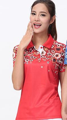 Футболка для настольного тенниса/бадминтона, футболка для бадминтона, ТЕННИСНАЯ СПОРТИВНАЯ ОДЕЖДА Джерси, быстросохнущие дышащие футболки для команды пинг-понга - Цвет: women red shirt