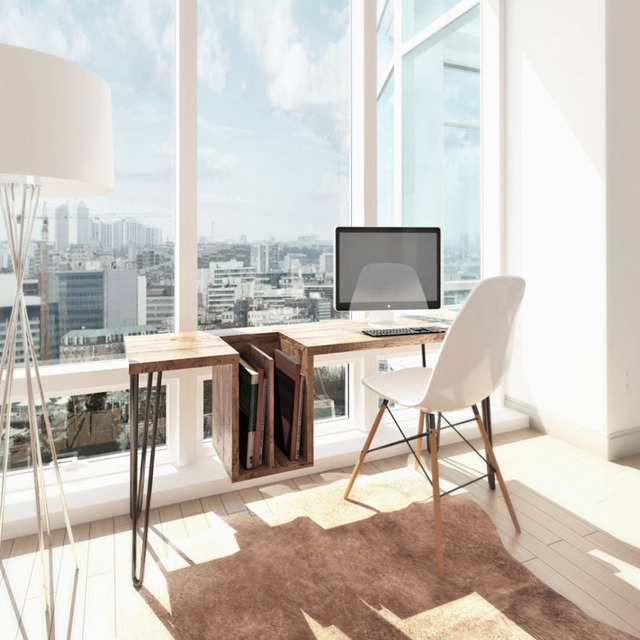 Simple And Stylish Home Wood Desktop Computer Desk Office Creative