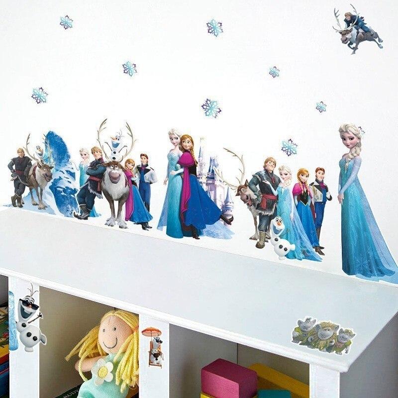 fairy tale movie wall decals home decor diy creative stickers kids room cartoon