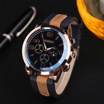 Original Luxury Brand Quartz Watches Men Hour Clock Sports Leather Wristwatch