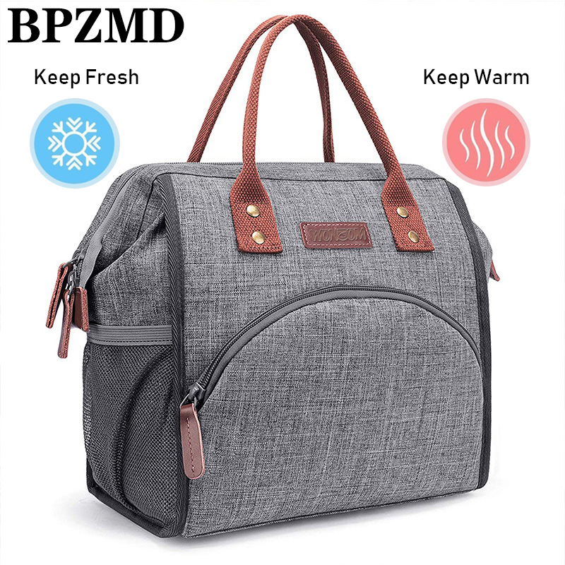 BPZMD Waterproof Lunch Bags Insulated Unisex Picnic Thermal Insulated Portable Thermal Cooler Fitness Professional Picnic Bag