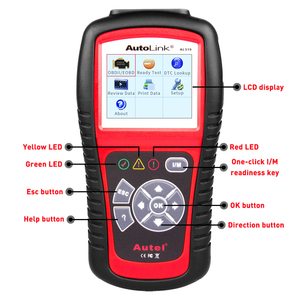 Image 5 - Autel oryginalny OBD2 narzędzie diagnostyczne do samochodów skaner samochodowy AL519 OBD 2 EOBD kod błędu czytnik urządzenia do skanowania Escaner Automotriz