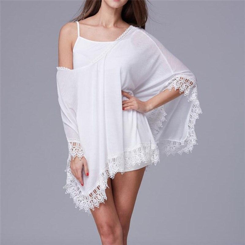 Cover-up Beach Wear Beachwear Summer Kaftan Swimwear Dress White Bikini Swinwear Bathing Suit Cover Up Plage 4