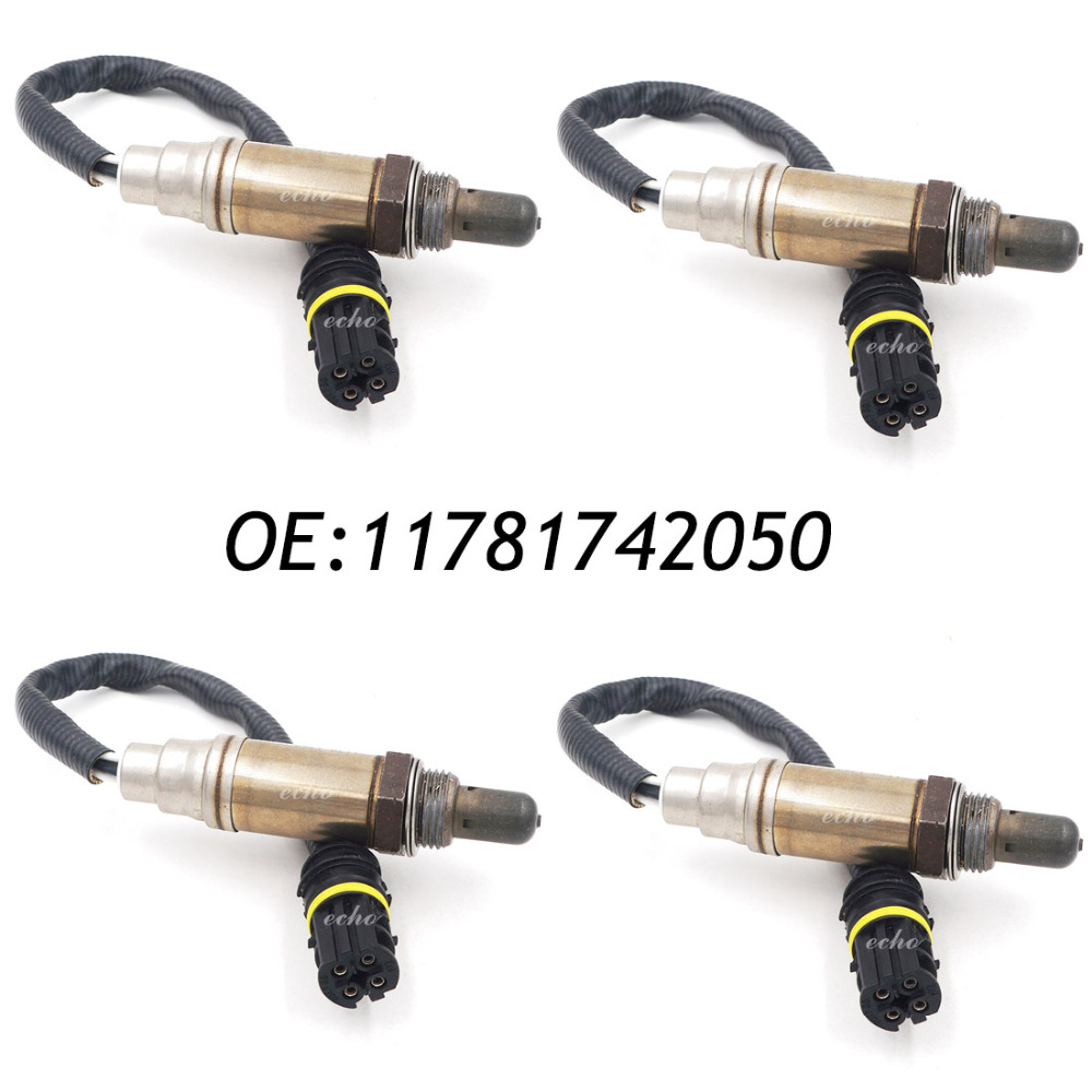 New 4PCS Oxygen Sensor For BMW E38 E39 E46 E53 E83 750iL 540i Z4 X3 11781742050 13477 new for oom202 envitec oxygen sensor oxygen battery original from germany
