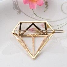 Diamond Shape Gold/Silver Color Hair Clip