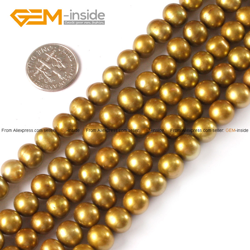 Cultured Pearl Beads For Jewelry Making Nearround 8-9mm 15inches DIY Jewellery Free Shipping Wholesale Gem-inside