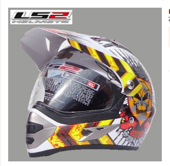 International Brand LS2 MX433 dual lens motorcycle helmet off-road racing helmet off-road dual helmet, free shipping!