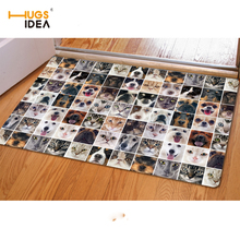HUGSIDEA New Animal Cat Dog Puzzle Home Carpet Cute 3D Printing Tapis Welcome Entrance Doormat Rugs for Living Room Kitchen Mat