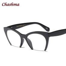 Chashma Brand Designer Eyewear Female Half Frame Cat Eye Stylish Fashion Spectackes Optik Clear Fake Glasses Women