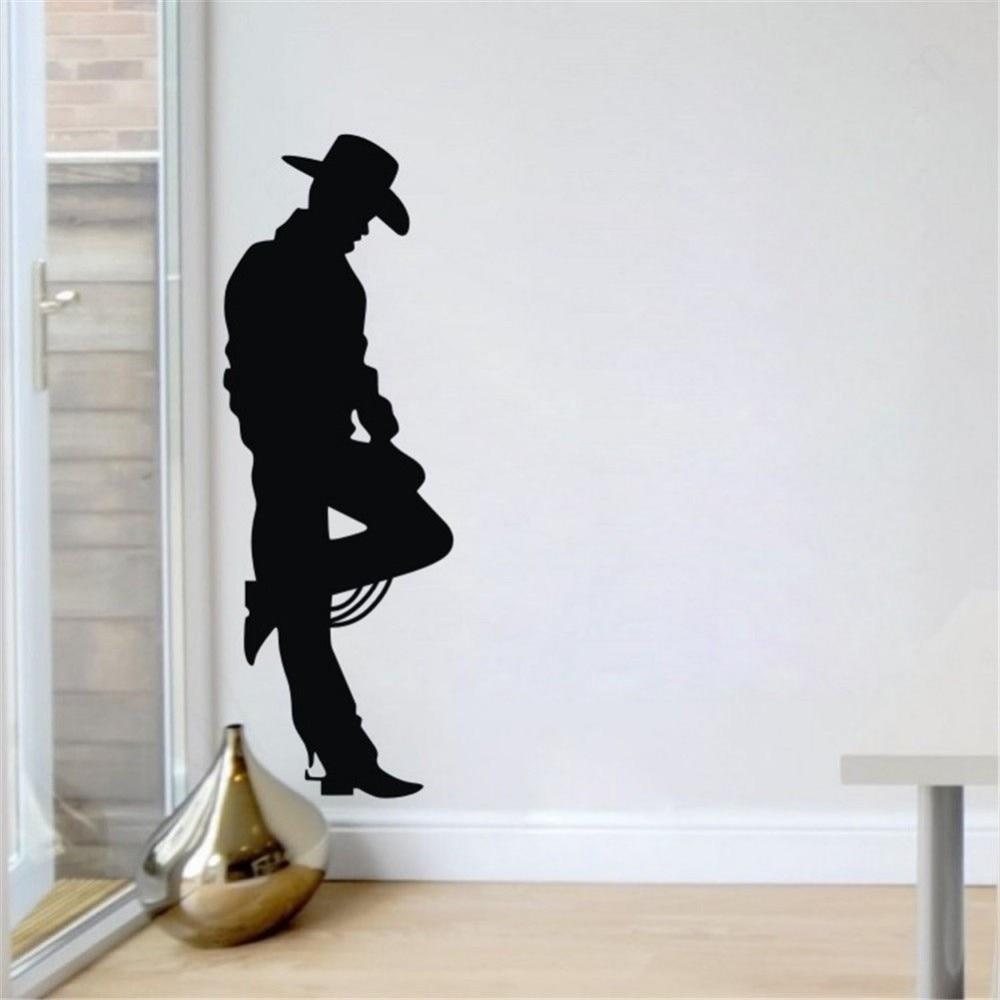 popular cowboy bedroom decor buy cheap cowboy bedroom decor lots west cowboy black character boy room vinyl wall decal mural art wall sticker bar livng room