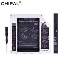 Chipal alumínio sata para pata ide 2nd hdd caddy 12.7mm 9.5mm para 2.5