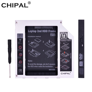 CHIPAL Aluminum SATA to PATA IDE 2nd HDD Caddy 12.7MM 9.5MM for 2.5