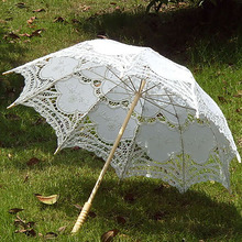 ФОТО 2017 newest arrive handmade umbrellas for bridesmaid wedding decoration lace umbrella christmas decoration ob