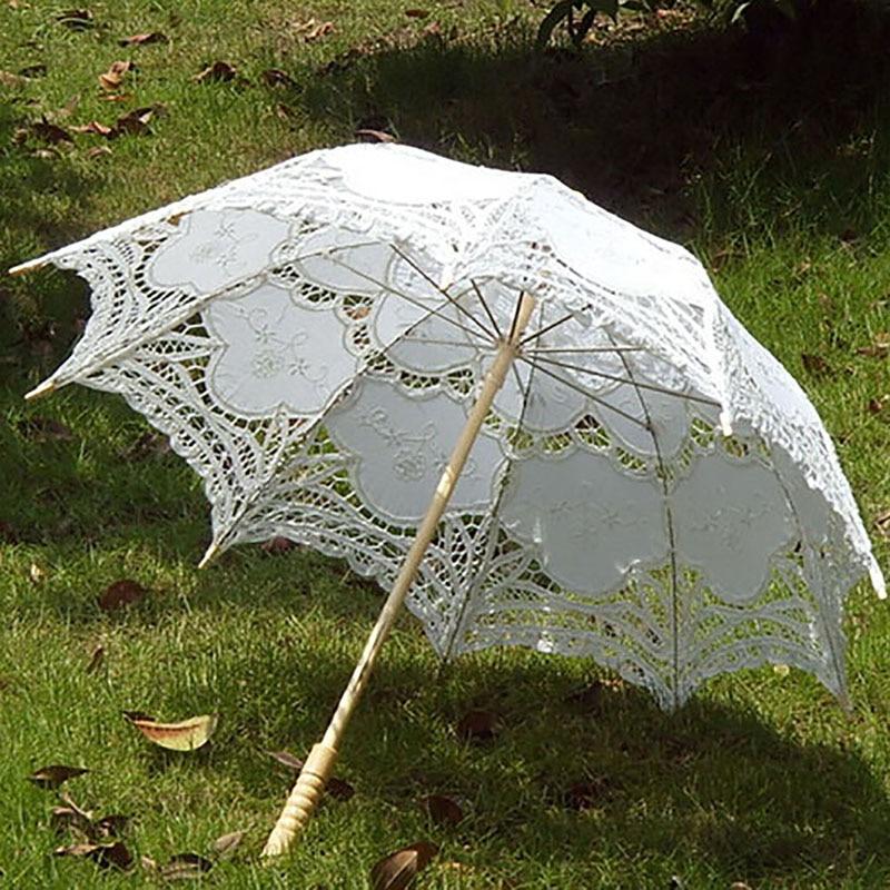 2017 новые поступление ручной работы Зонты для невесты Свадебные украшения Кружево зонтик Рождество украшения OB