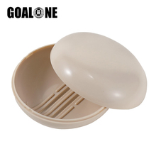 GOALONE 2Pcs/Set Travel Soap Box Portable Dish with Lid Creative PP Case Saver Container for Bath Accessories
