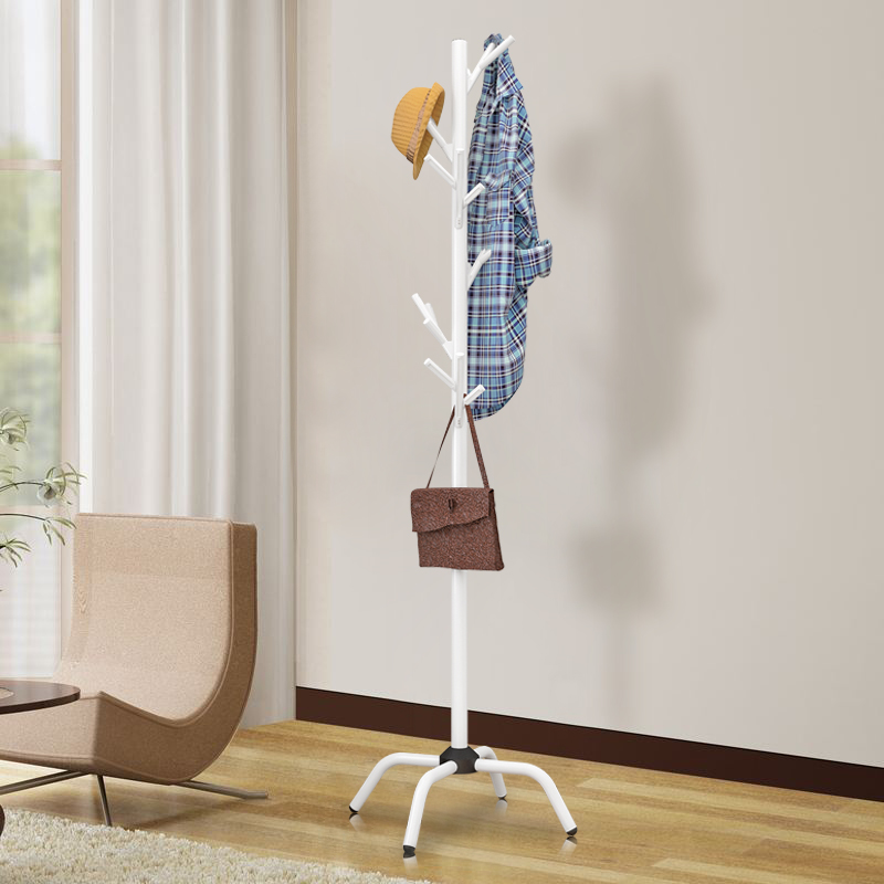 Metal Coat Rack Multifunctional Floor Home Bedroom Clothes
