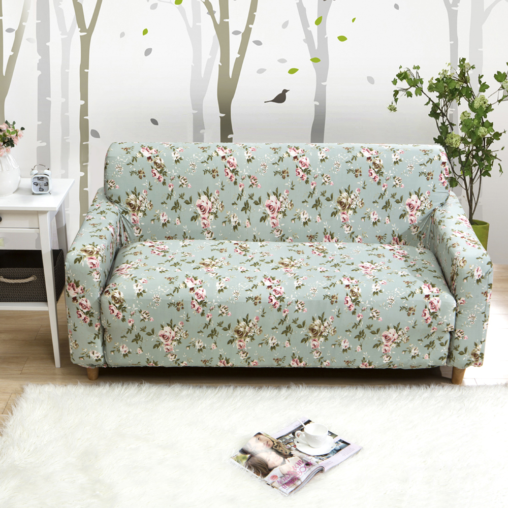 2018 Floral Flowers Print Sofa Covers Slipcover Stretch