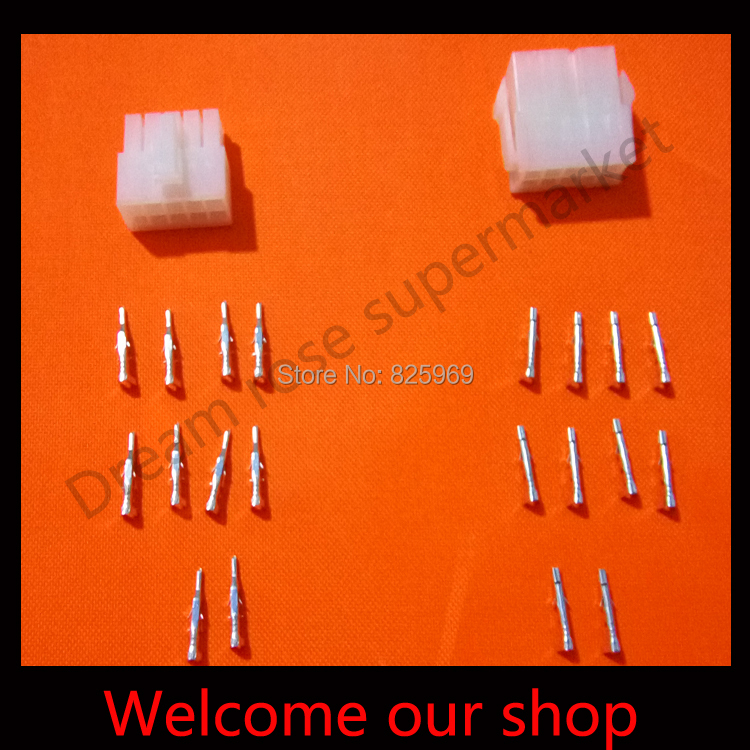 10set bullet terminal car electrical wire connector diameter 4mm pin set HV