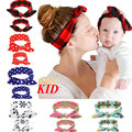 2pcs Cheap Stuff Mama Baby Headband Plaid Floral Heandbands Kids Headwear Mommy Dots Hair Wear KD446