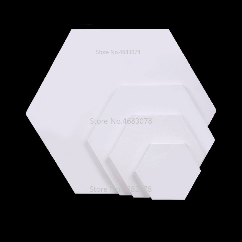 2Pieces Hexagon Cotton Wood Frame For Canvas Oil Painting Artist Painting Canvas Blank Cotton Canvas Panels Wholesale