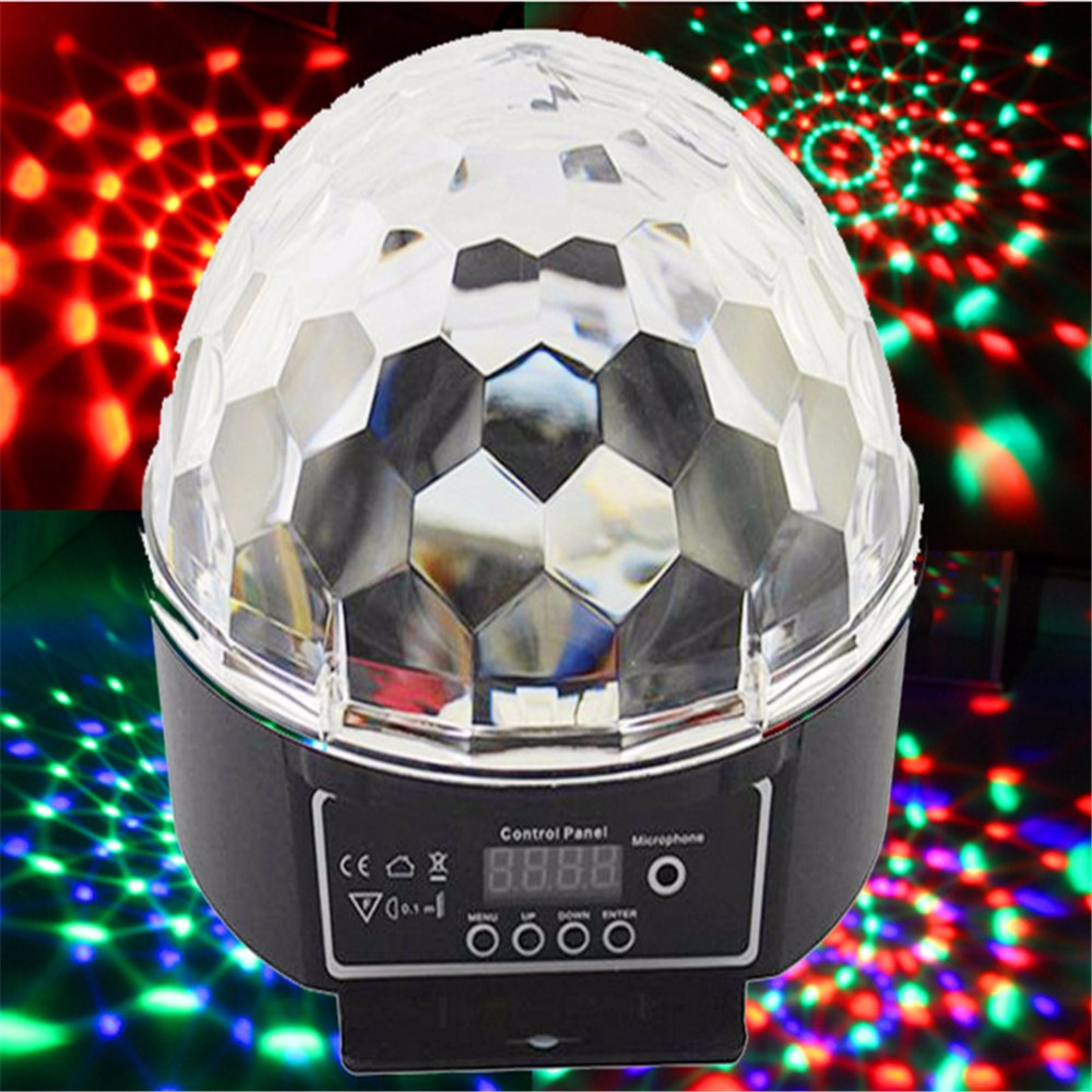 RGB LED Crystal Magic Ball Stage Effect Lighting Lamp Party Disco Club DJ Bar Light Show JG-M02 new arrival rgb led mp3 crystal magic ball stage effect light dj club disco party lighting music with usb disk remote control