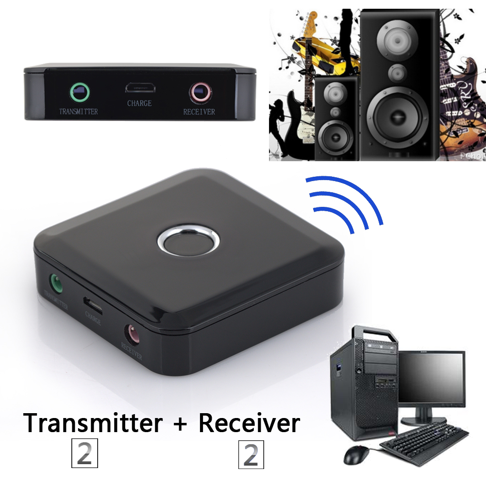 2 in 1 Wireless Bluetooth Transmitter A2DP Receiver Stereo Audio Music Adapter