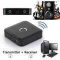 2 em 1 Transmissor Receptor Sem Fio Bluetooth A2DP Estéreo Áudio Música 3.5mm jogador Adaptador para TV computador falante do PC