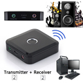 2 en 1 Transmisor Receptor Bluetooth A2DP de Música Audio Estéreo 3.5mm Adaptador Inalámbrico reproductor de TV altavoz PC computer