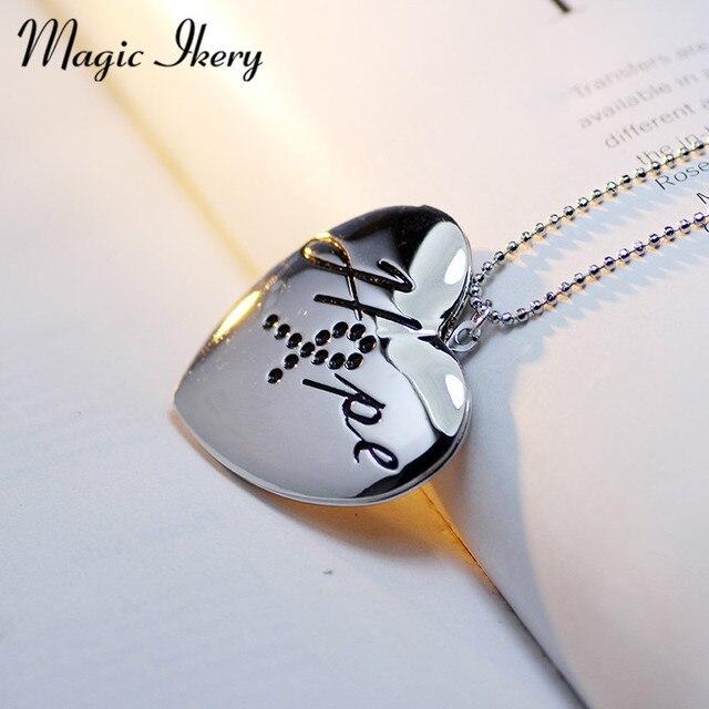 US $3 99 |Sihir Ikery Hot Sale Terbuka Surat Jantung Pocket Perhiasan  Liontin Untuk Foto Mode Kalung Perhiasan Untuk Wanita MKA70 di Rantai  Kalung