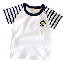 3-10Y Boys Girls Short Sleeve Cartoon Design T Shirt Tops Cute  Dinosaur   Casual T-Shirts Little Children Clothes