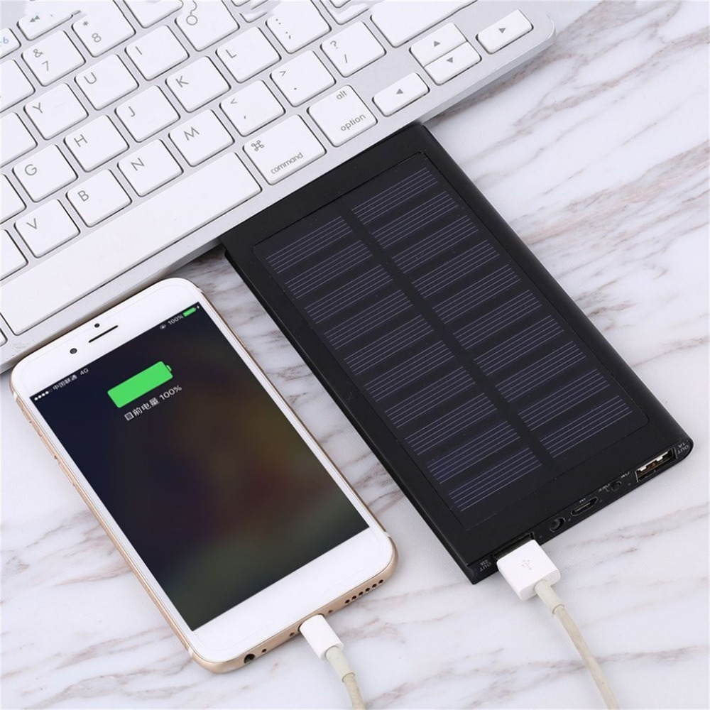Solar Power bank 2USB Port LED External baterry Power Bank For Mobile Phone For Iphone xiaomi 5