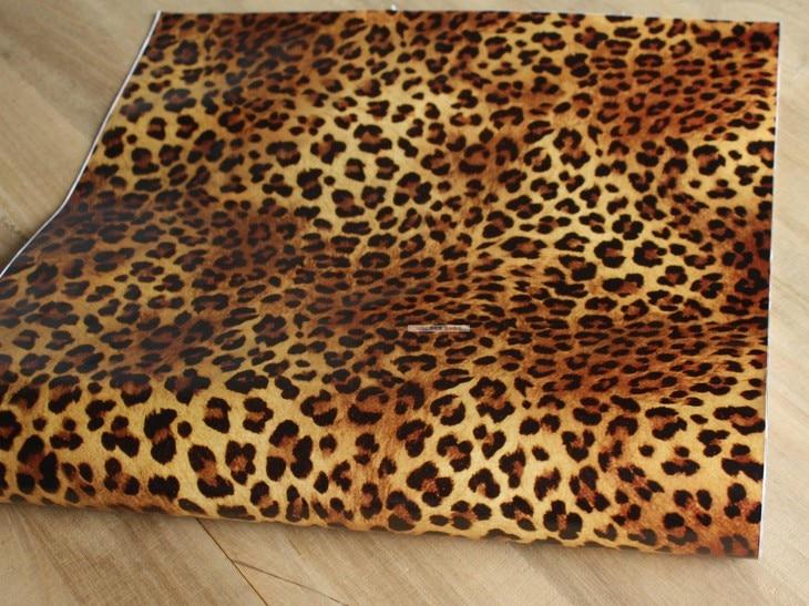 Leopard textur selbstklebende tapete sanierung von alten möbeln ...