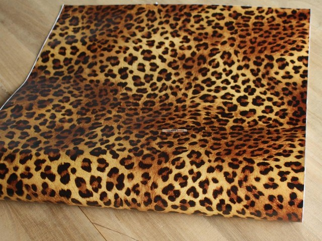Leopard Texture Self Adhesive Wallpaper Renovation Of Old Furniture  Cabinets Tables Refurbished Stickers Width 45cm