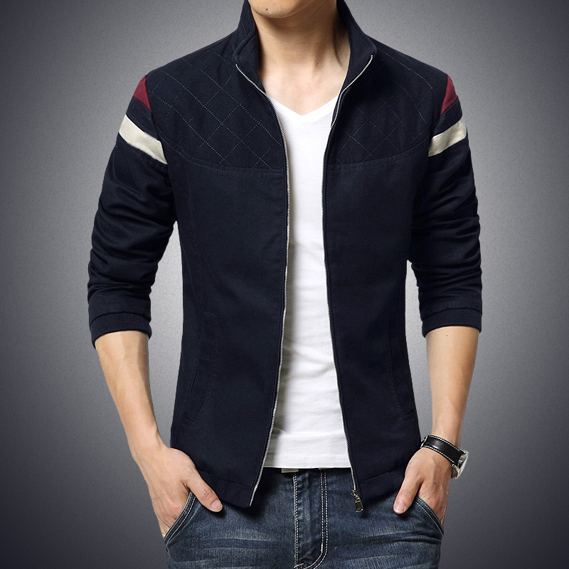 2015 new fashion argyle men's jacket spring autumn casual male ...