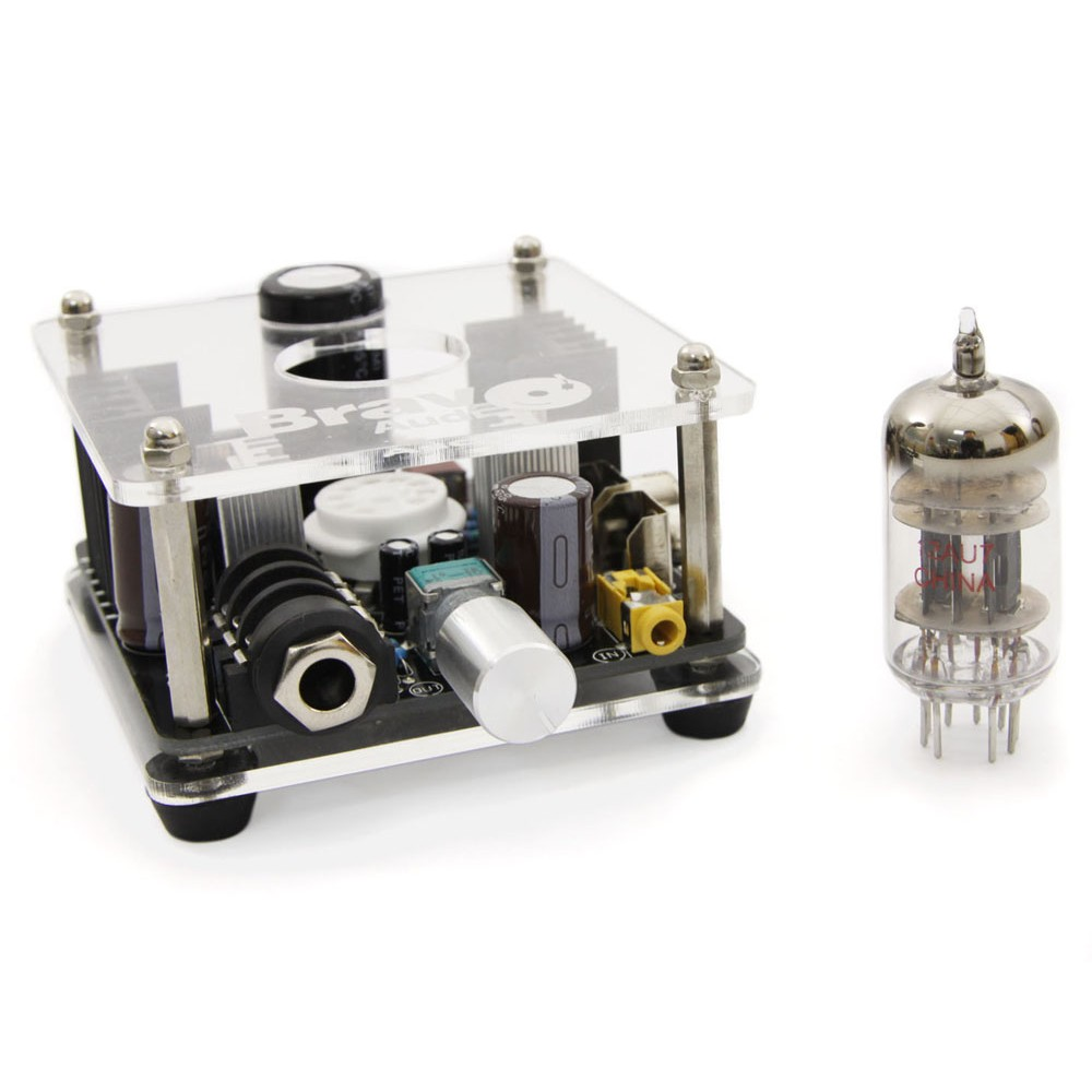 Bravo Audio V2 Valve Class A 12AU7 Tube Headphone Amplifier-in Headphone Amplifier from Consumer Electronics    3
