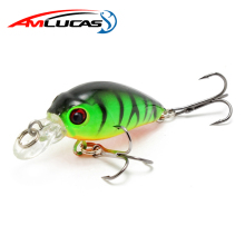 Amlucas Minnow Fiske Lure 45mm 4.4g Crankbait Hard Bait Topwater Konstgjord Wobbler Bass Japan Fly Fiske Tillbehör WE267