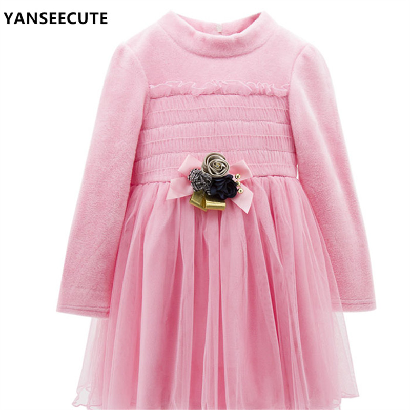 Girls dress autumn dress girl for kids fashion baby princess dresses for girls Children's Clothing HOT  1pcs/lot AAM-QZ7005-1P girls dresses 2017 hot sell girl fashion