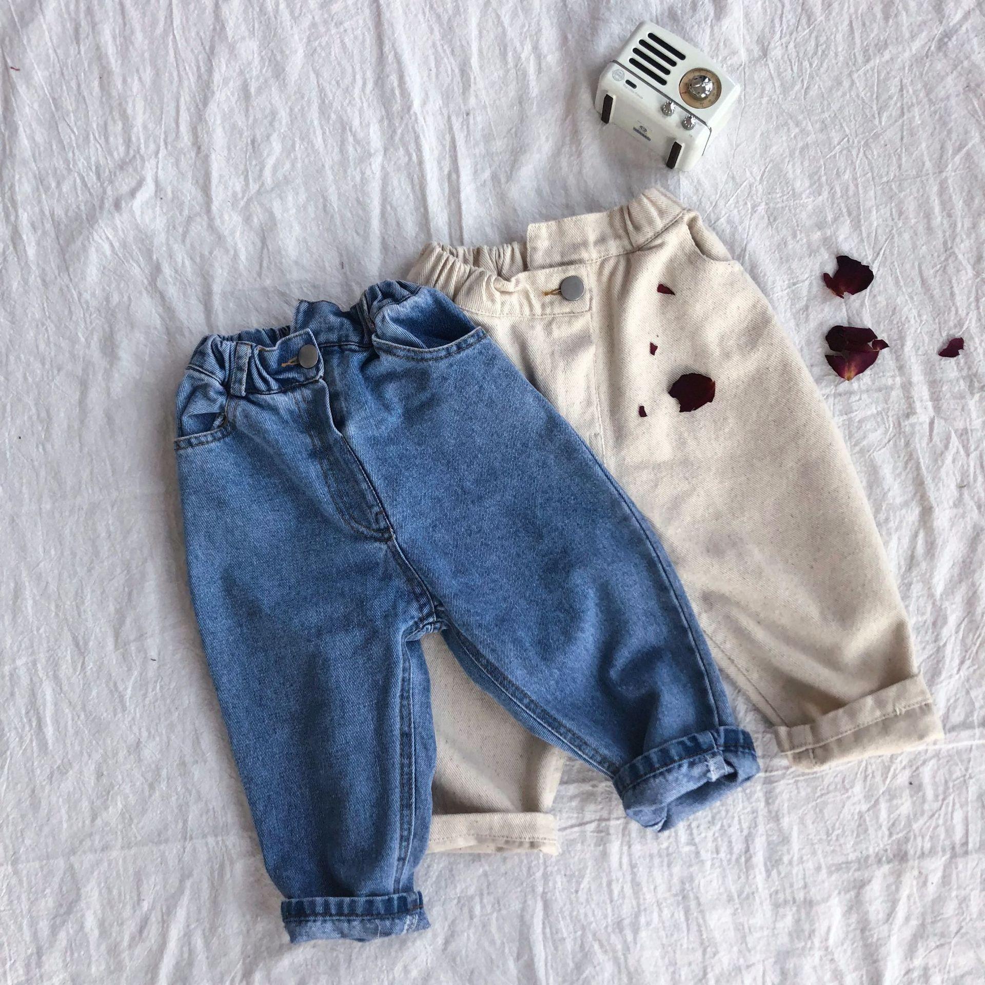 Boys Pants Cotton Elastic Casual Jeans Mid Waist Children Trousers Kids Clothing