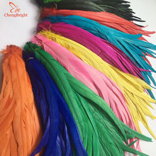 Chengbright 도매 100 pcs 30 35 cm 자연 수탉 꼬리 깃털 장식 공예 깃털 christma diy 꿩 깃털