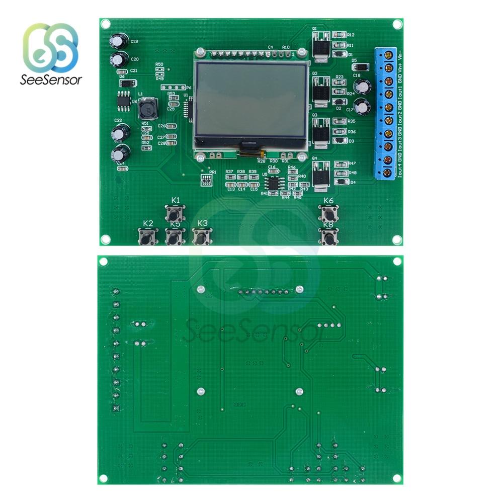 4-kanaals 4-20ma Signaal Generator Module Board 6 Toetsen 12864 Lcd Digitale Display Signaal Generator Diy Kit Dc 12 -24 V En Om Een Lang Leven Te Hebben.