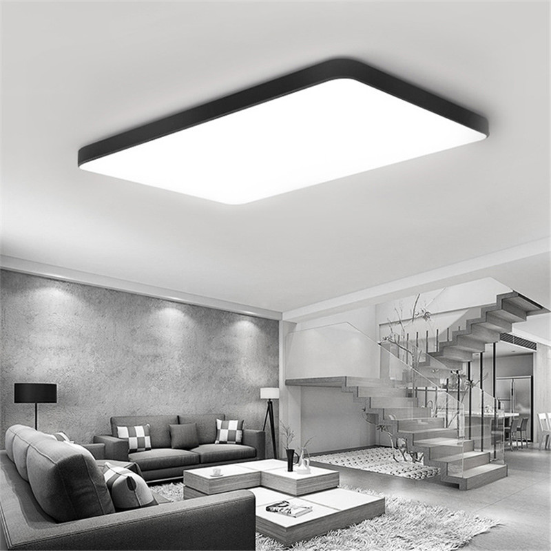 Simple Led ultra-thin ceiling lamp creative living room bedroom balcony aisle restaurant kitchen square lamps free shipping modern led ceiling lamp aisle simple living room porch balcony study room long lamp