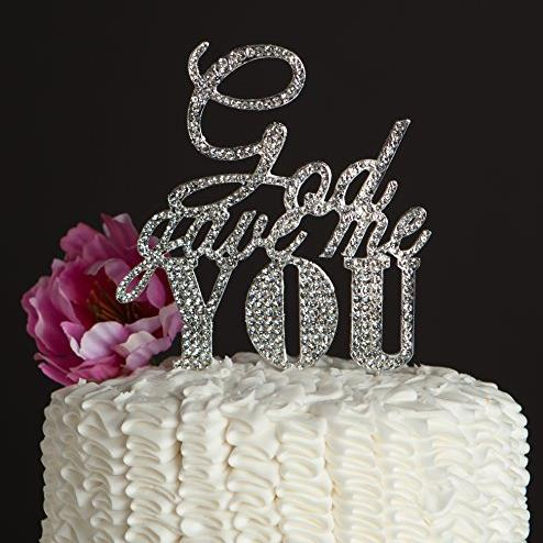 God Gave Me You Persoanlzied Wedding Rhinestone Cake