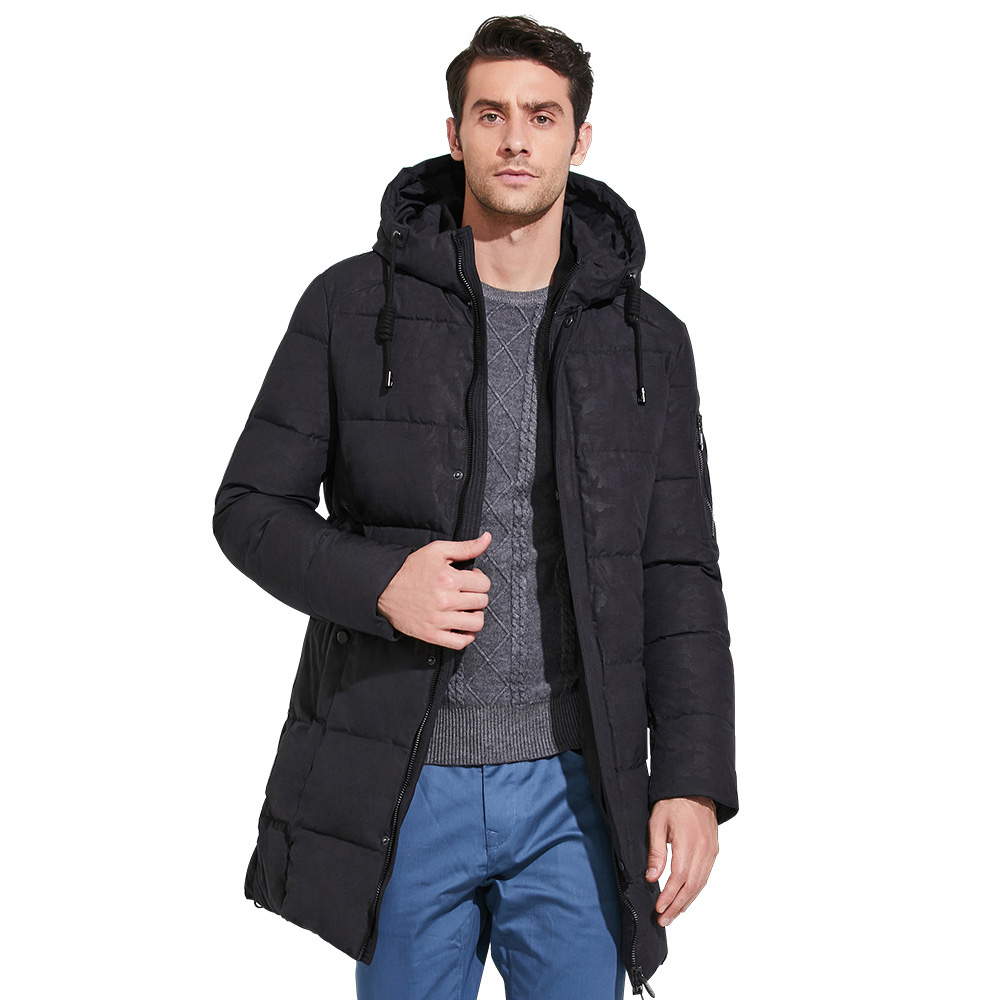 ICEbear 2017 New Winter Jacket Mens Printed Cotton Men Clothing Business Casual Men Parka Coats Thick Warm Hooded Coat 17MD933D icebear 2018 new winter coat women high quality parka women s fashion jacket bilateral pocket thick hooded windproof 17g666d