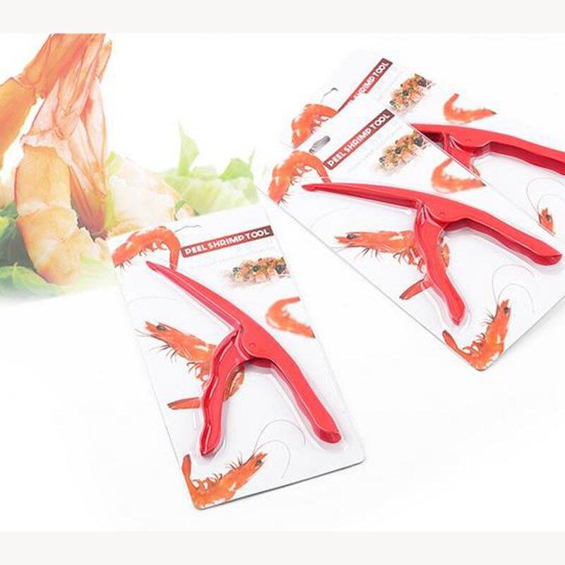 2pc Red Shrimp Deveiner Prawn Peelers Device Plastic Sea Sheller