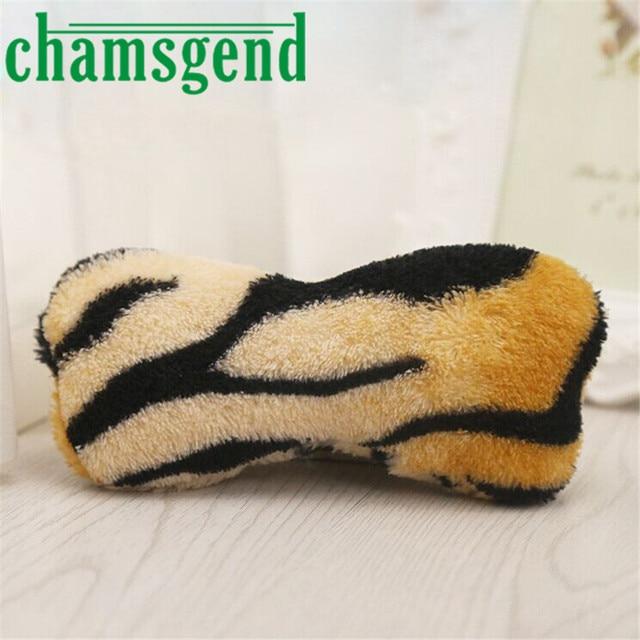 Bella pet New Pet Products Multicolor Pelle di Tigre Cane Puppy Chew Toy Squeaky Peluche Suono Carino Bone Design Toys0510